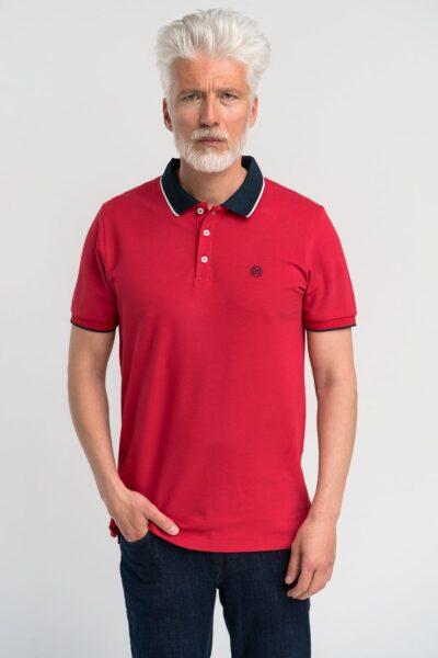 Μπλούζα πόλο μονόχρωμη Κόκκινη