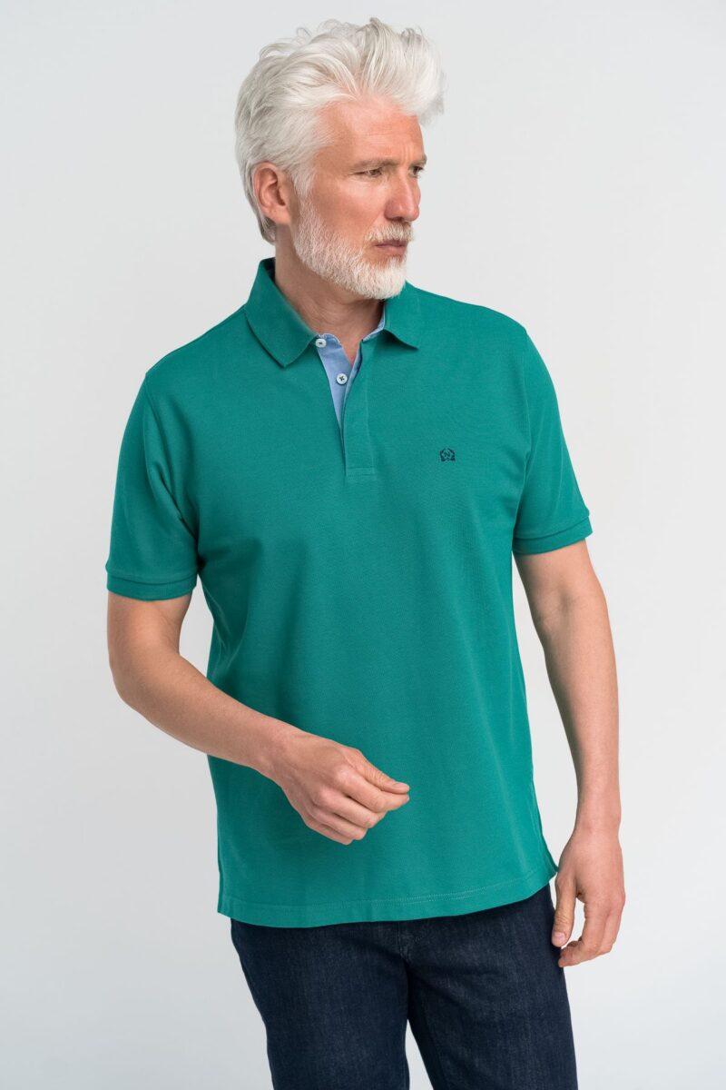 Μπλούζα πόλο μονόχρωμη Πράσινη
