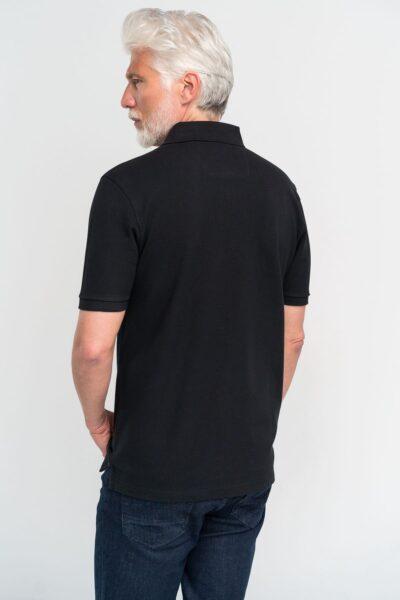 Μπλούζα πόλο μονόχρωμη Μαύρη