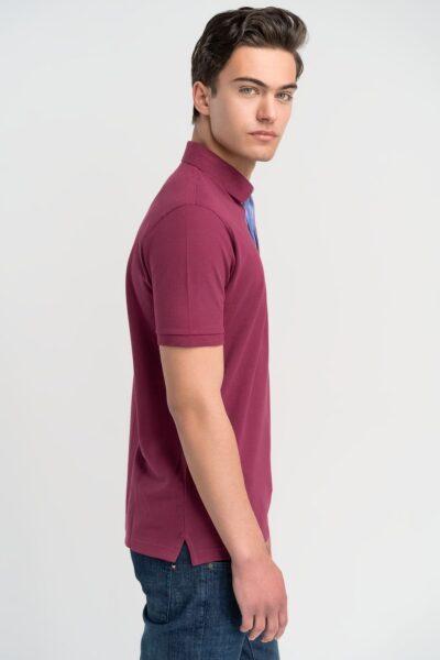 Μπλούζα πόλο μονόχρωμη Μωβ