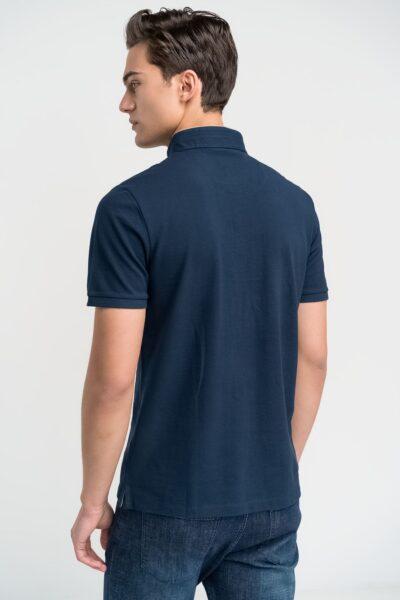 Μπλούζα πόλο μονόχρωμη Μπλε