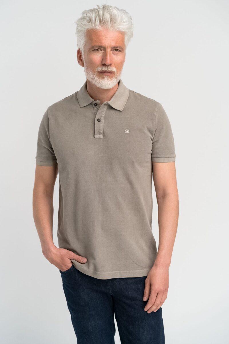 Μπλούζα πόλο μονόχρωμη Μπεζ
