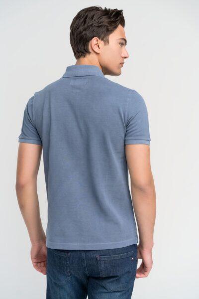 Μπλούζα πόλο μονόχρωμη Ραφ