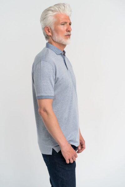 Μπλούζα πόλο Jacquard Γκρι