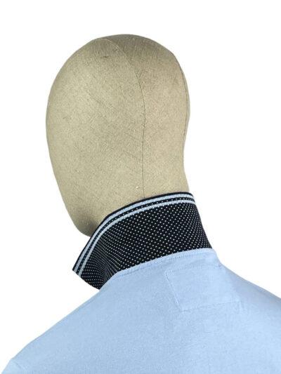 Μπλούζα πόλο μονόχρωμη Γαλάζια