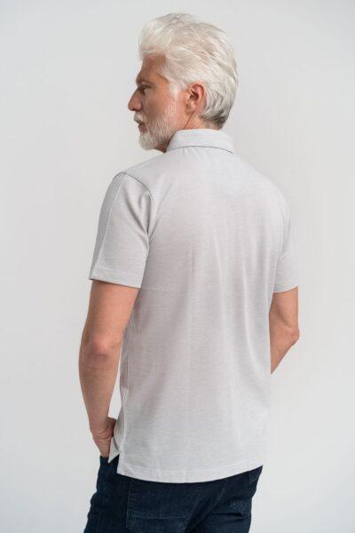 Μπλούζα πόλο μονόχρωμη Γκρι