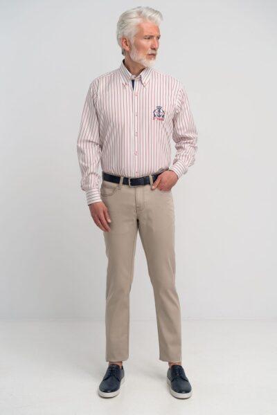 Παντελόνι 5 Pockets Μπεζ Interfit