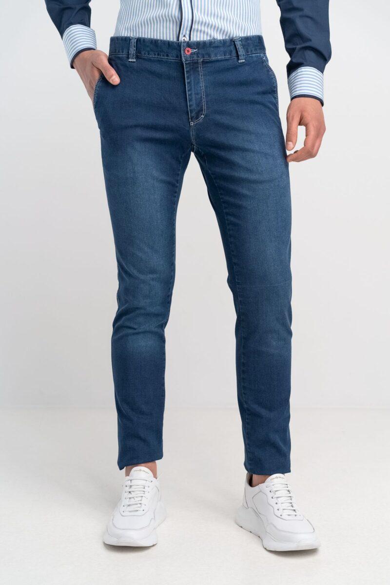 Παντελόνι Jean Chinos Denim Blue Slim