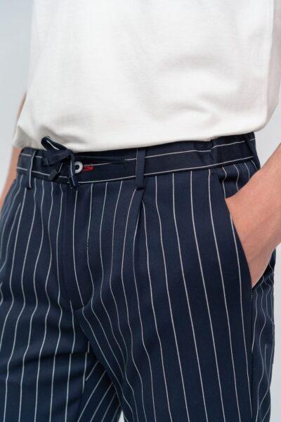 Παντελόνι Jogger Μπλε-Λευκό Interfit