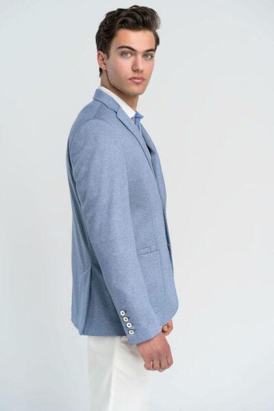 Σακάκι Μονόχρωμο Γαλάζιο Interfit