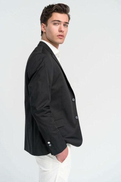 Σακάκι Μονόχρωμο Μαύρο Interfit