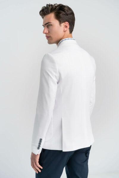 Σακάκι Μονόχρωμο Λευκό Interfit