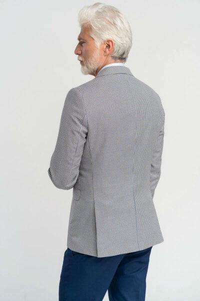 Σακάκι Καρό pied de poule Μπλε Interfit