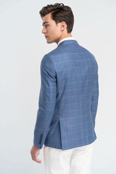 Σακάκι Καρό  Indigo Blue Interfit