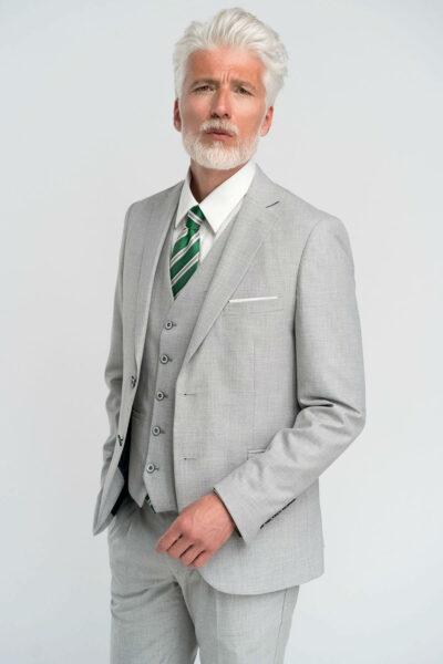 Κοστούμι μονόχρωμο Γκρι Interfit