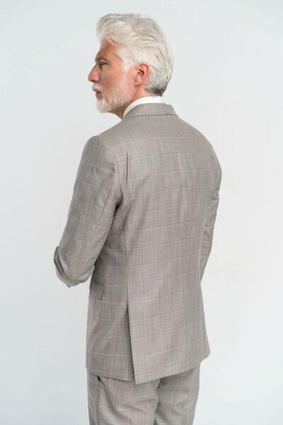 Κοστούμι καρό Γκρι Interfit
