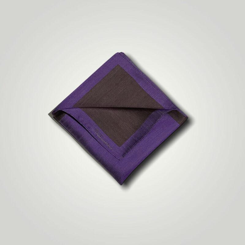 Μαντήλι Καφέ - Μωβ Jacquard 250-25-1350-2505-1