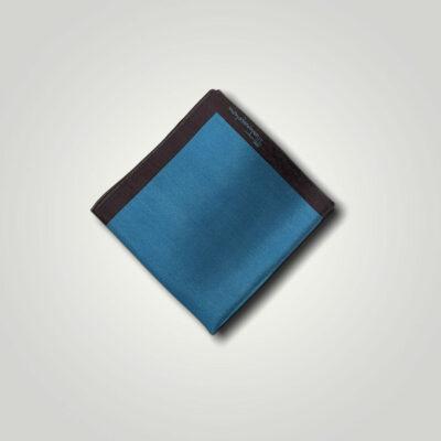 Μαντήλι Πετρόλ - Καφέ Jacquard 250-25-1350-2506-1