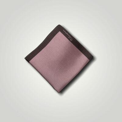 Μαντήλι Καφέ - Ροζ Jacquard 250-25-1350-2507-1