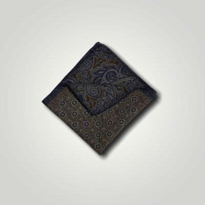 Μαντήλι Καφέ - Μπλε Print 250-25-1350-2515-1
