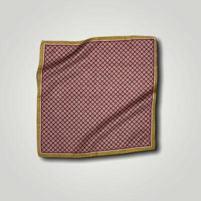 Μαντήλι Μπορντώ - Ωχρα Print 250-25-1350-2524-1