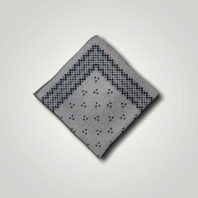 Μαντήλι Γκρι - Μπλε Print 250-25-1350-2528-1