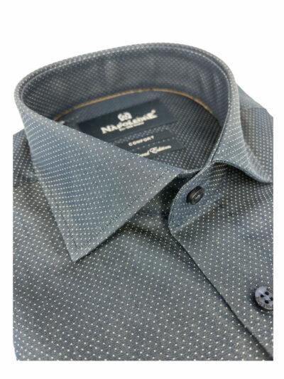 Πουκάμισο Μπλε Micro Jacquard 300-30-2495-3141-10 Comfort
