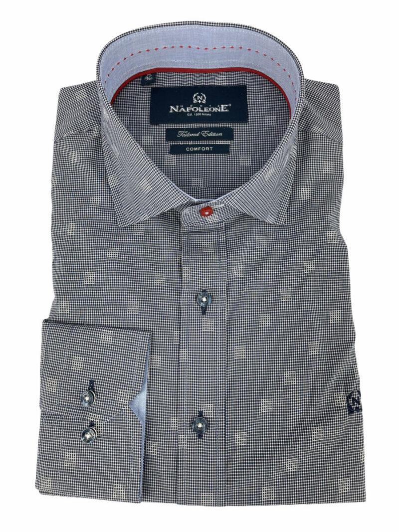 Πουκάμισο Μπλε Micro Jacquard 300-30-2675-3493-4 Comfort