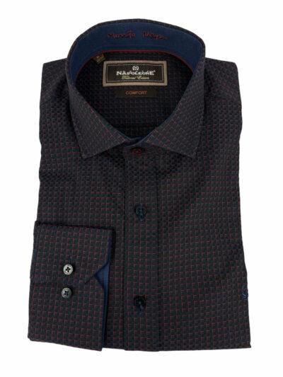 Πουκάμισο Μπλε Micro Jacquard 300-30-2685-3380-4 Comfort