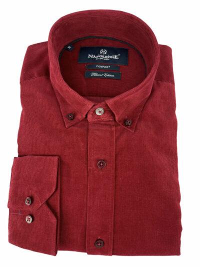 Πουκάμισο Κοκκινο Μονόχρωμο 300-30-2750-3327-7 Comfort