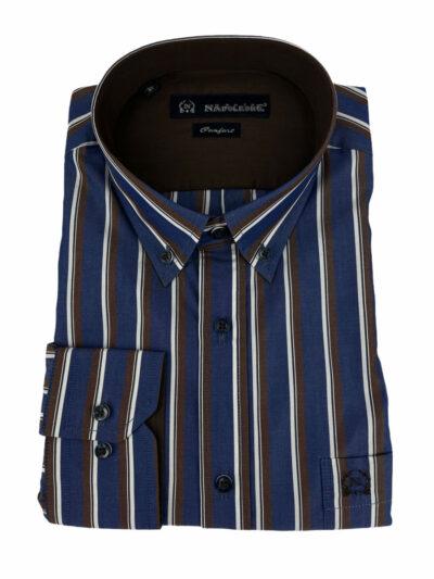 Πουκάμισο Μπλε Ριγέ 300-30-2750-3344-9 Comfort