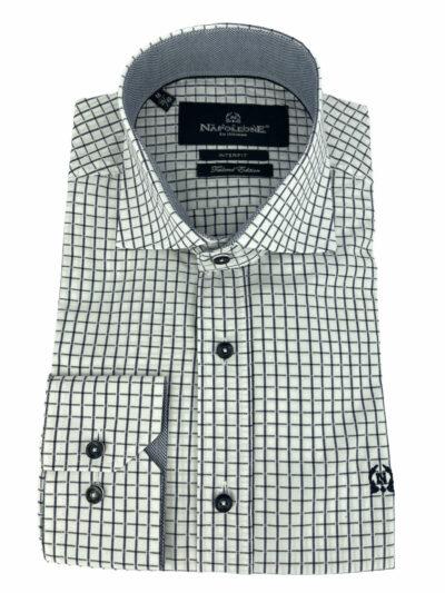 Πουκάμισο Λευκό Καρό 300-31-2675-3181-5 Interfit