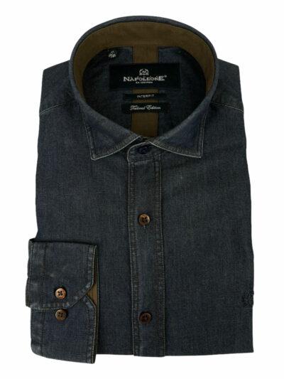 Πουκάμισο Μπλε Jeans 300-31-2750-3309-5 Interfit