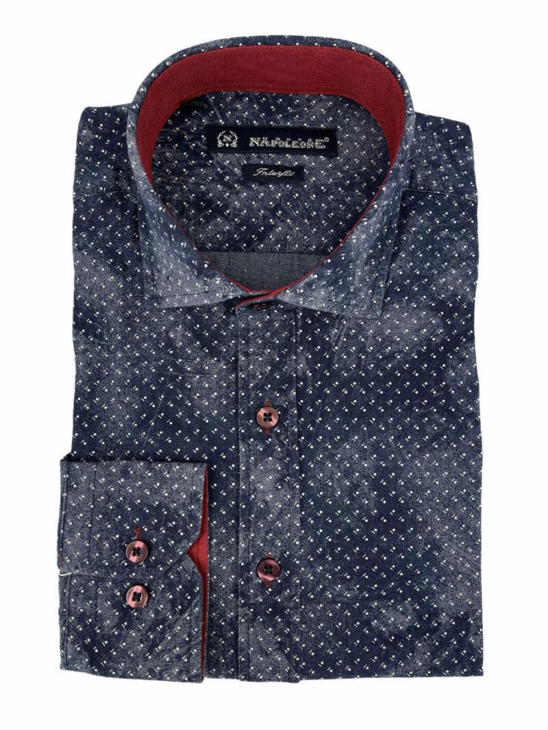 Πουκάμισο Μπλε Jeans 300-31-2750-3719-1 Interfit