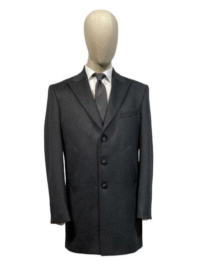 Παλτό Ανθρακί Σταυρομονόπετο 730-73-8450-7391L-3