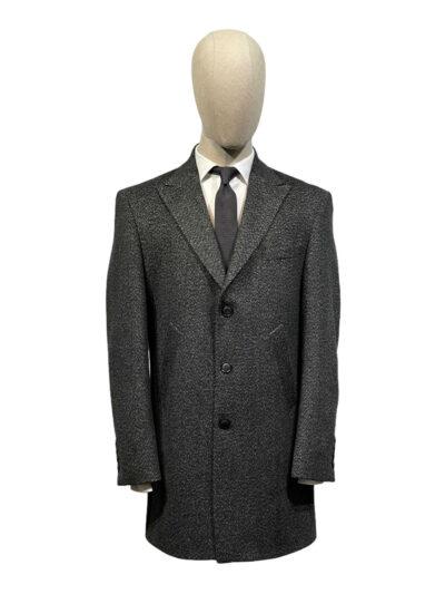 Παλτό Ανθρακί Σταυρομονόπετο 730-73-8845-7400L-1