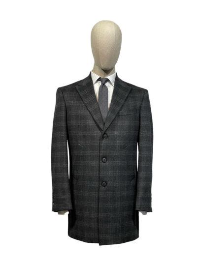 Παλτό Ανθρακί Σταυρομονόπετο 730-73-8845-7403L-3
