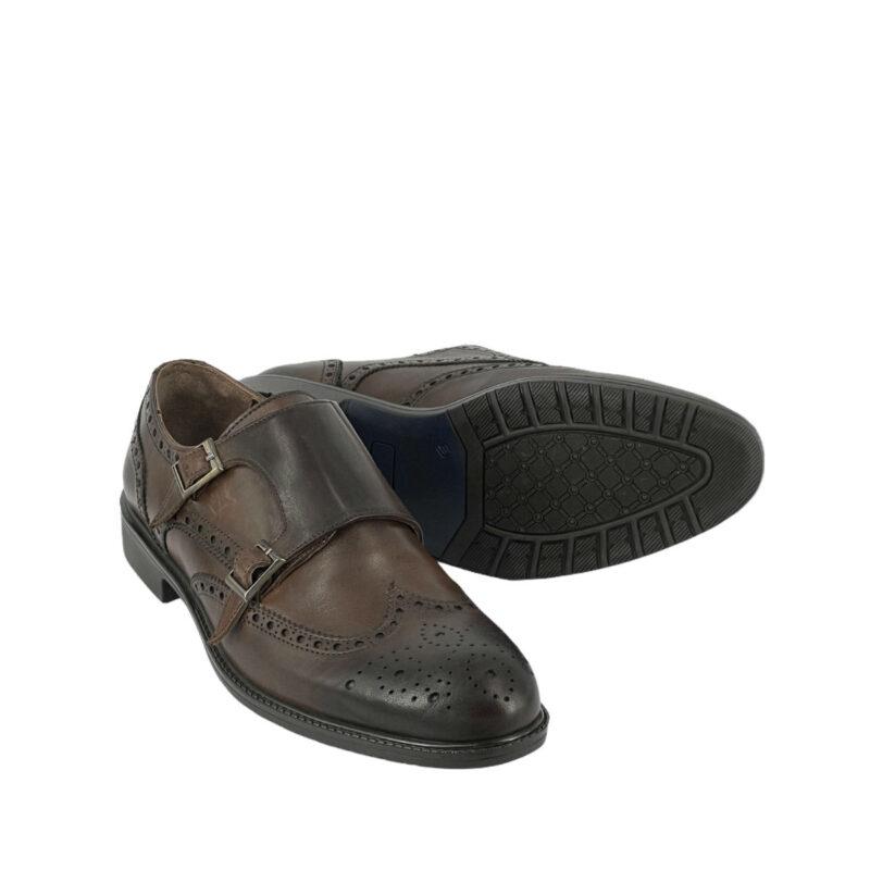 Παπούτσια Monk Strap Καφέ 900-90-5580-9061-2