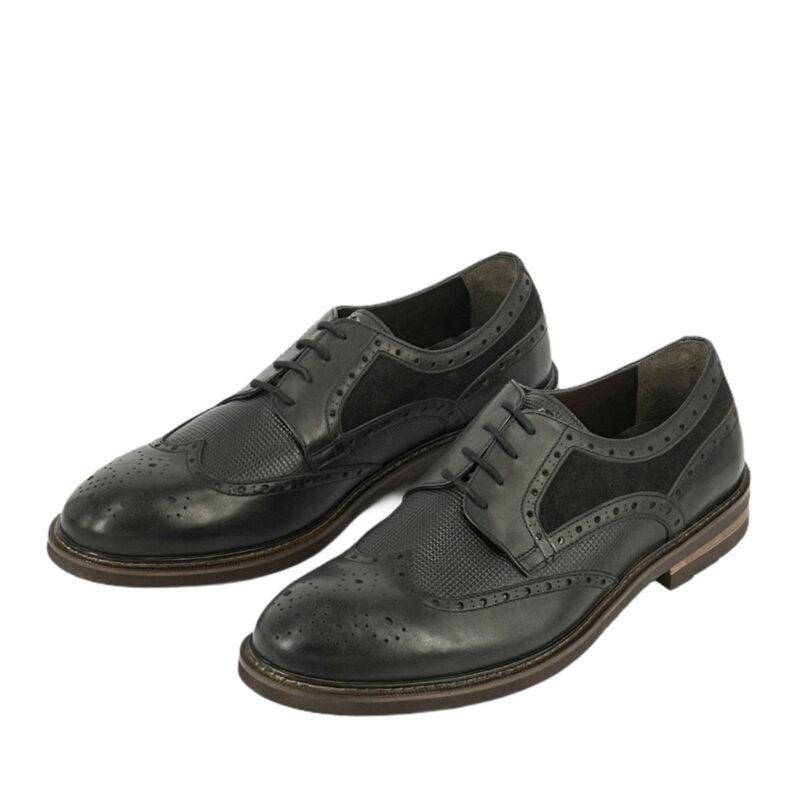 Παπούτσια Wing Tip Μαύρα