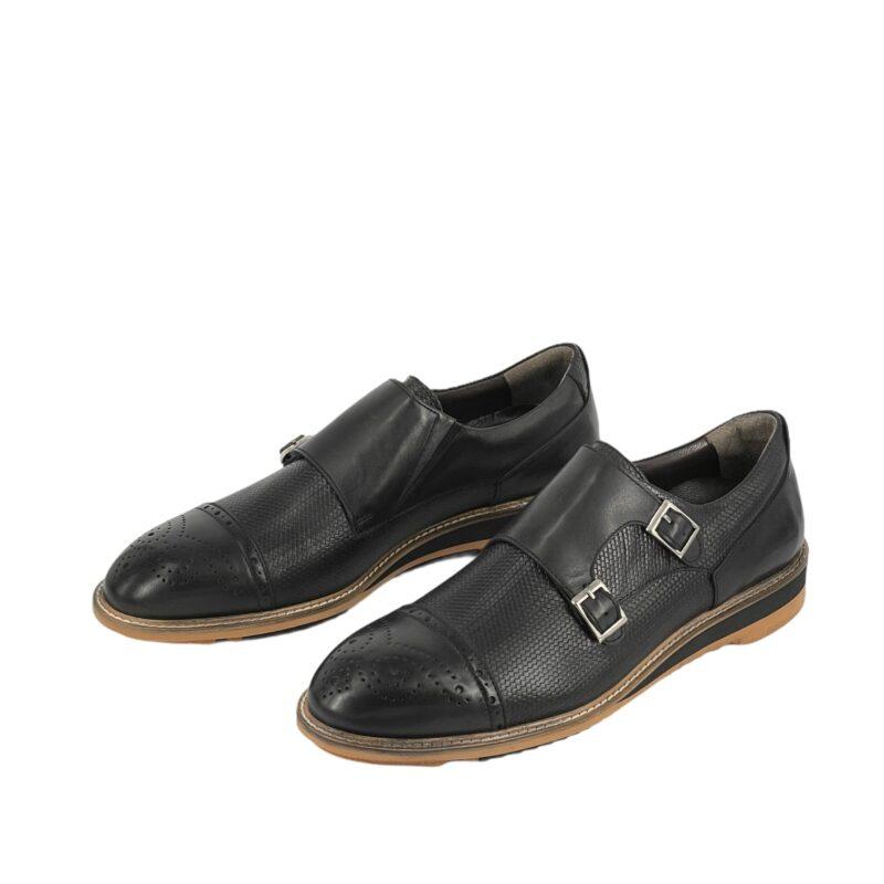 Παπούτσια Monk Strap Μαύρα
