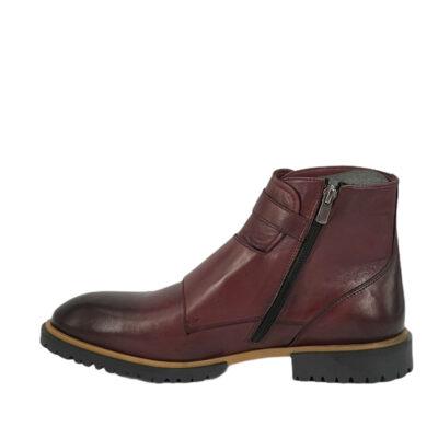 Παπούτσια Monk Strap Μπορντό