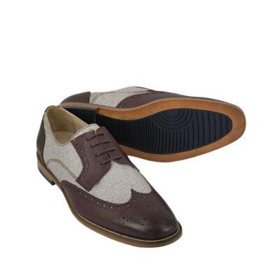 Παπούτσια Wing Tip Μπορντό