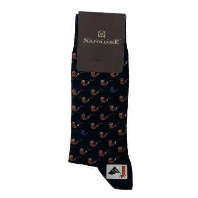 Κάλτσες Μαύρες - Καφέ Jacquard