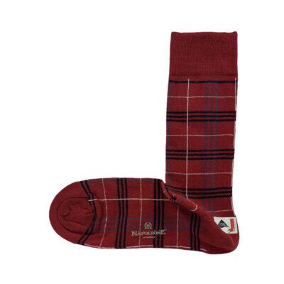 Κάλτσες Κόκκινες - Μπλε Jacquard