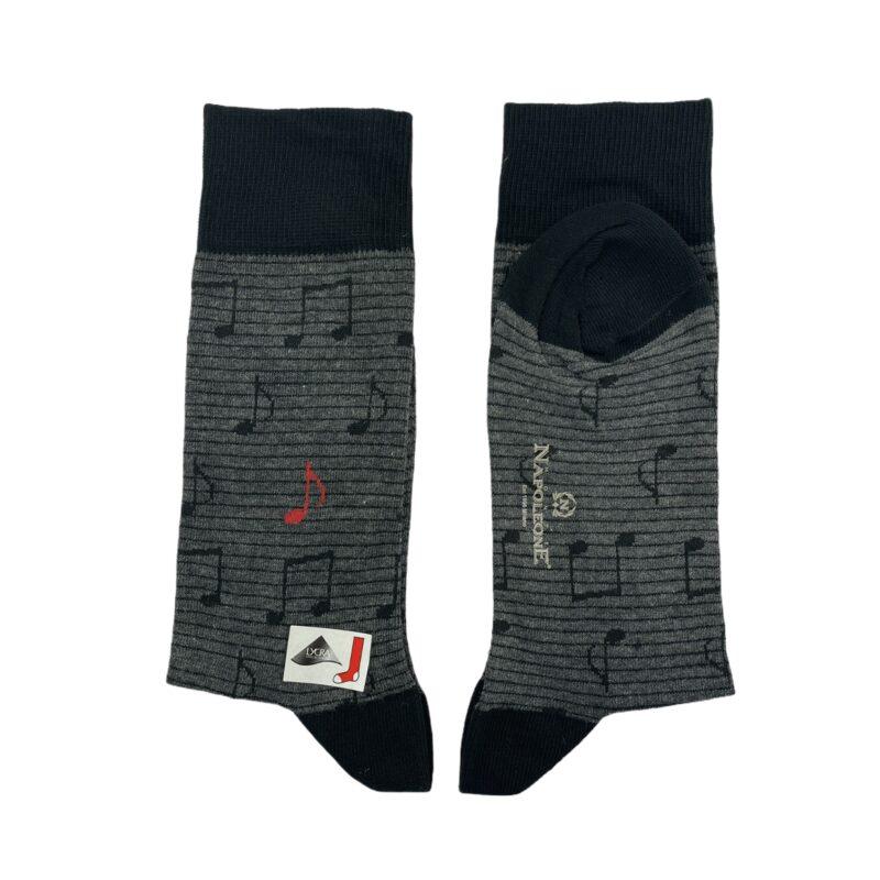 Κάλτσες Γκρι - Μαύρο Jacquard