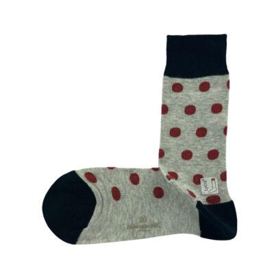 Κάλτσες Μπλε - Γκρι Jacquard